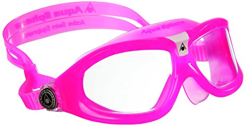 Aqua Sphere Seal 2 - Occhialini per bambino, con lenti blu, Rosa (Pink/Clear Lens), Taglia unica