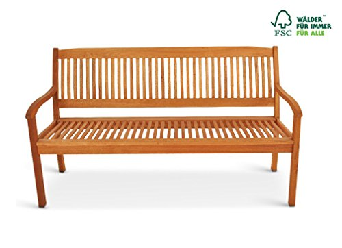 SAM Gartenbank France aus Akazienholz, FSC® 100% zertifiziert, 157 cm, 3-Sitzer Holzbank, geölt, Garten-Möbel aus Akazie, massive Holz-Bank für Terrasse