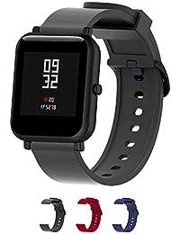 Cinturini per orologi in silicone-Cinturino a sgancio rapido-Cinturini in silicone morbido a sgancio rapido Cinturino di ricambio in pelle-La larghezza è di 20 mm-3 colori-(Black)