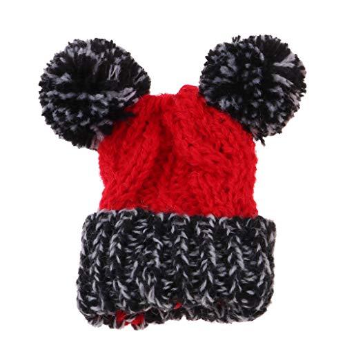 Baoblaze Schönes Mini gestrickte Wollmütze Mütze Skimütze Weihnachtsmütze -