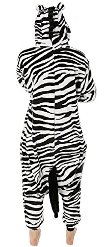 Nicetage Jumpsuit Schlafanzug Onesie Tier Kostüm Unisex Nachtwäshe Erwachsene Kigurumi Pyjama Zebra