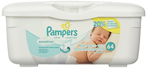 Pampers Baby Wipes Tub, Sensitive with Touch of Milk Essentials – 64 Wipes/Tub 410GYT1Y8ZL