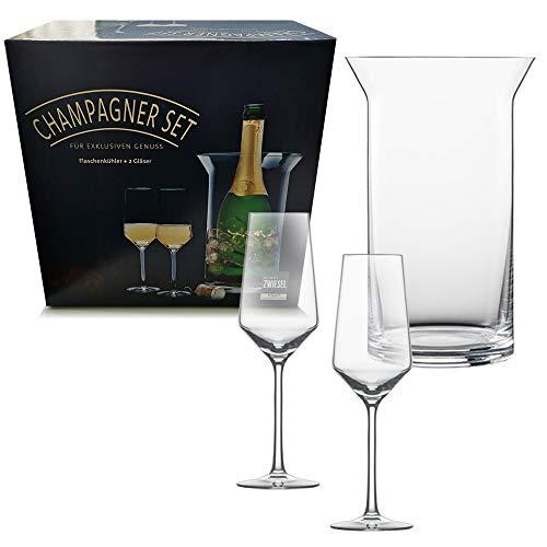 Schott Zwiesel Set de Seau à Champagne + 2 Verres Tritan