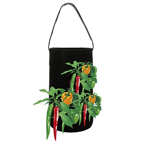 fgasad - sacchi per coltivare fragole e peperoncini, per piante e verdure, portatile, durevole, grande