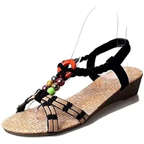 Calzado de mujer,Amlaiworld Bohemia planas de las chancletas Zapatillas Sandalias
