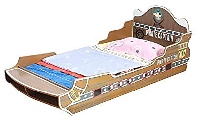 Captain Pirate Ship Toddler Bed