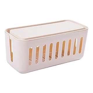SJHO Kabel Multifunktions-Management-Box Line Manager - Multifunktions-Aufbewahrungsbox - 5 Farben Optionen,White