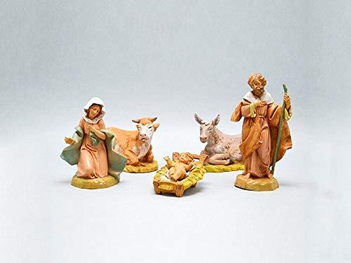 Fontanini natività 12cm 5 statuette in resina statuine presepe gesù (f-138)