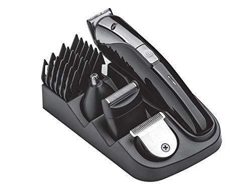 Goldmaster Janti Herrenpflegeset | GM-7143 | 5 in 1 | Einstellbare Haar & Bart Kopfbedeckung | Funkbetrieb | Schnellladung | Lithium Batterie | Kompaktes Design -