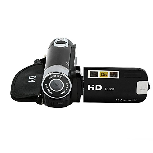 Altsommer Digitalkameras für Home Um Gruppenfotos zu Erfassen Aufzeichnen Hochzeit Livestreaming Kamera Stativ, Video Camcorder HD 1080P Digitalkamera mit 4Fachem Digitalzoom Mp3-bundle