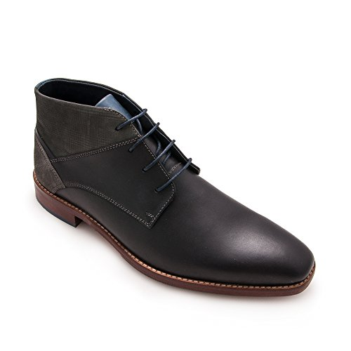 Zerimar Herren Lederschuh Komfortabler Schuh mit Flexibler Gummisohle Leder Casual Schuh für Den Mann Hochwertige Leder Schuhe Elegant 100% Leder Farbe Schwarz53