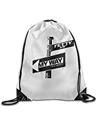 Ktmasa Fetty Wap My Way Road Sign Drawstring Storage Bag Bunched Bag for  Men   Women b6e97b26e2d