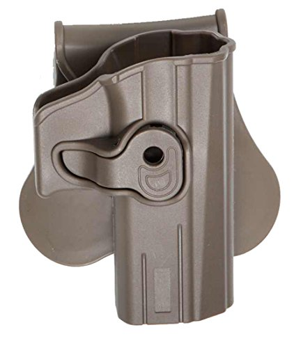Holster CQC Hartschale Holster Tan Softair Pistole czp09 P07 SP01 Bersa Thunder 9 Pro 18431 (Airsoft Pistole Replik)