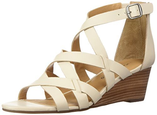 Lucky Brand Women's Lk-Jewelia Wedge Sandal, Black, Medium