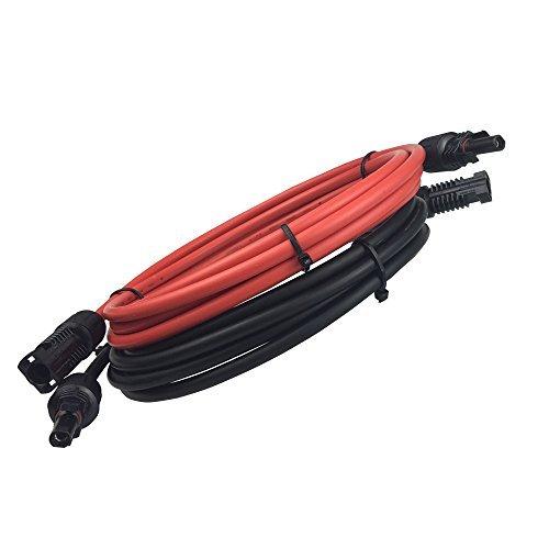 HQST Ein Paar 304,8cm 3,309 mm² Verlängerungskabel Solarenergie-Kabel PV mit MC4 weiblichen und männlichen Verbinder