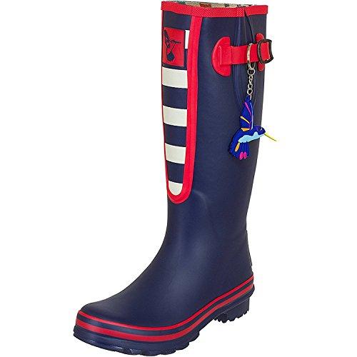 Ladies Evercreatures Multicoloured Knee High Tall Wellies Striped Wellington Boots - (UK 3-8)