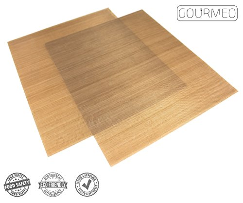 Image of GOURMEO Dauerbackfolie (2er Set, 36 x 42 cm), einfach zuzuschneiden, spülmaschinenfest und umweltschonend | 2 Jahre Zufriedenheitsgarantie | Dauerbackfolie, Backpapier wiederverwendbar