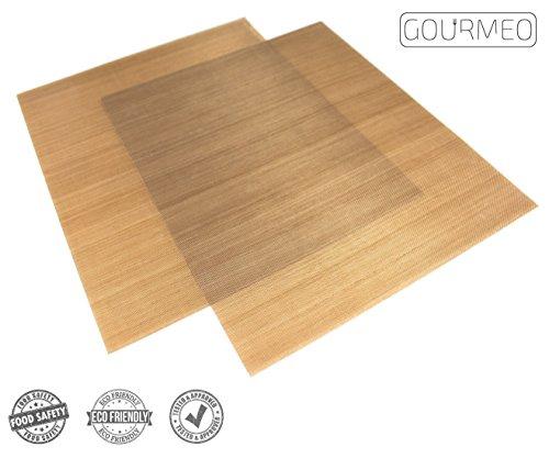 Image of GOURMEO Dauerbackfolie (2er Set, 36 x 42 cm), einfach zuzuschneiden, spülmaschinenfest, umweltschonend, antihaftbeschichtet | 2 Jahre Zufriedenheitsgarantie | Dauerbackfolie, Backpapier wiederverwendbar