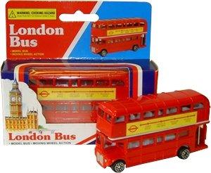 Preisvergleich Produktbild London Rot Bus (klein) – Doppeldecker Rot Busmodell aus Diecast Metall und Kunststoffteile
