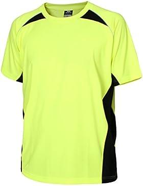 Trespass Airflow - Camiseta de running para hombre, color amarillo, talla L