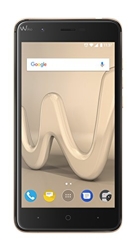 Wiko Harry 12,7 cm (5 Zoll) Smartphone (13MP Kamera, 16 GB internen Speicher, 3GB RAM, Dual-SIM, Android Nougat) gold