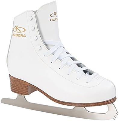 Hudora Schlittschuh Eislaufkomplet Laura, Größe 37 - Patines de patinaje sobre hielo , color blanco, talla 37