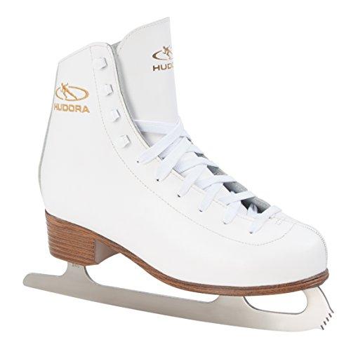 Hudora Schlittschuh Eislaufkomplet Laura, Größe 40 - Patines de patinaje sobre hielo, color blanco, talla 40