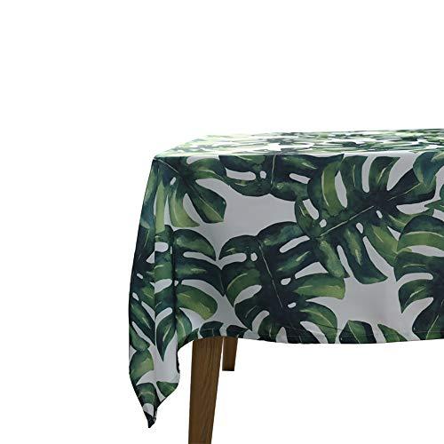 ocjemoTablecloths Pastoral Tropical de Algodón Hoja Restaurante de Mantel de Tela del Vestido de Boda del Mantel 140x180cm 55x70 Pulgadas
