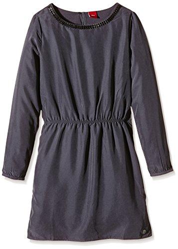 s.Oliver Mädchen Kleid mit Schmuckkragen, Einfarbig, Gr. 140, Grau (grey 9855)