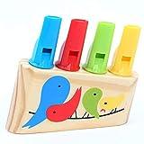 Opak Strumenti Musicali Giocattoli per Bambini Montessori Panpipe colorato Uccelli Fischietti in Legno Neonati Giochi per Ragazze, Multicolore
