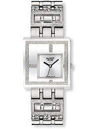 Swatch Irony Damen-Armbanduhr Irony Square Mirror Time Yus 100G