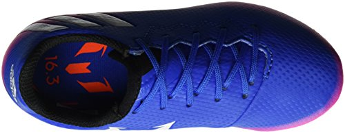 adidas Messi 16.3 Fg, Chaussures de Football Mixte Enfant Multicolore (Blue/Ftwr White/Solar Orange)