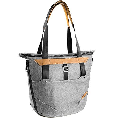 Peak Design Everyday Tote Bag 20L Ash Damen-Fototasche für DSLR- und DSLM-Kameras - funktioniert als Handtasche, Schultertasche, Umhängetasche oder Rucksack (hellgrau) (Tote Design Handtasche)