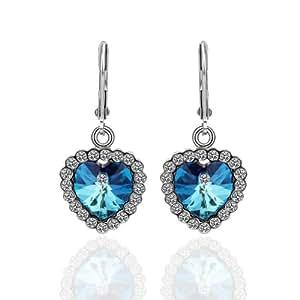 Earrings Heart of Ocean Crystal -Elements