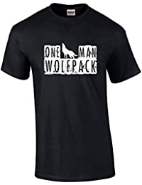One Man Wolfpack T-Shirt - Red - Small