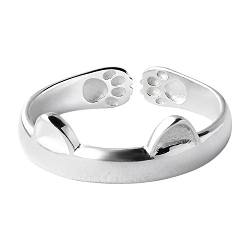 sanwood-womens-cat-ear-claw-open-ring-silver-finger-jewelry