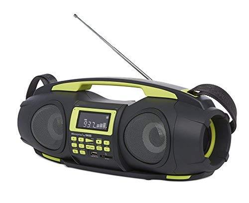 Nikkei NGB3601GN - ghettoblaster/Boombox | boomblaster | digitale CD-Audiosysteem | FM-radio | Bluetooth | USB | Schwarz/Grün