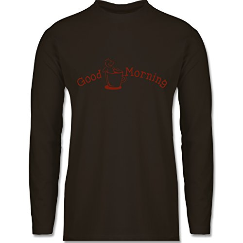 Küche - Good Morning - Longsleeve / langärmeliges T-Shirt für Herren Braun