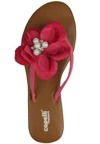 "Capelli New York Zehensandale ""Pearls & Flowers"" Pink"