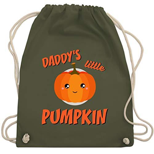 Anlässe Kinder - Daddys little Pumpkin Halloween - Unisize - Olivgrün - WM110 - Turnbeutel & Gym Bag