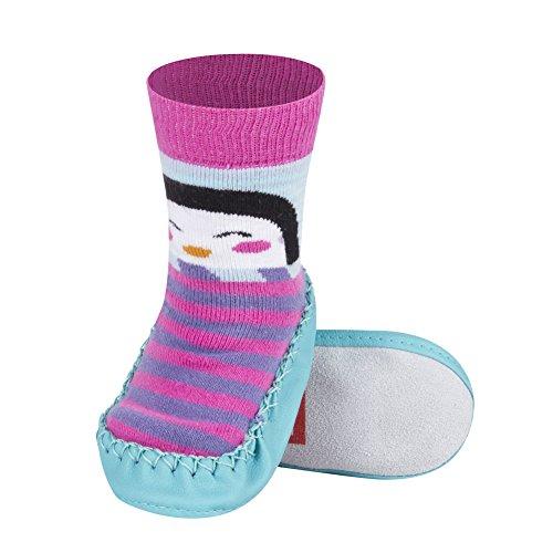 soxo Baby Mokassin Slipper Socken mit Ledersohle Schöne Farbe - Passt bis zu 24 Monaten