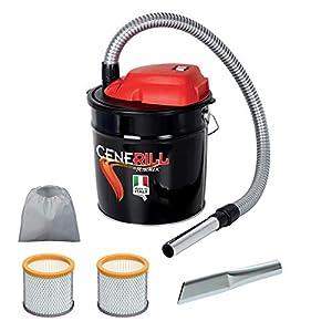 Cenerill – Aspirador de cenizas eléctrico de 800W, depósito de18l, con doble filtro y boquilla plana