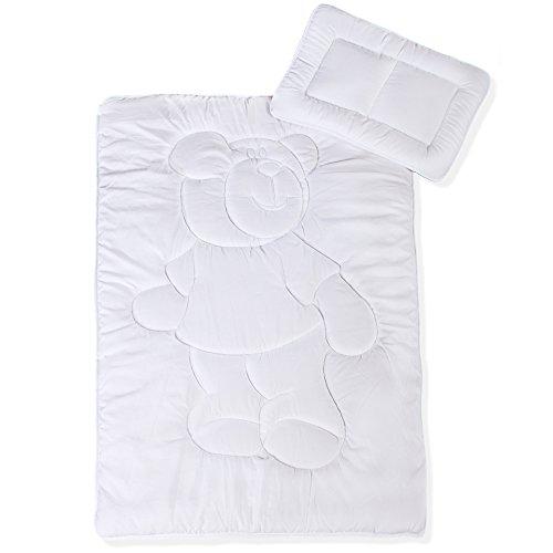 Kinder Bettdecke / Ganzjahresdecke, 100 x 135 cm Mikrofaser Baby-Steppdecke im Set mit 1x Kopfkissen 40 x 60 cm | aqua-textil Soft Touch Kids 0011221