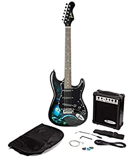 Jaxville Hades ST Style Electric Guitar Pack with Amp, Gig Bag, Strings, Strap, Lead and Plecs (B001G8AAR8) | Amazon price tracker / tracking, Amazon price history charts, Amazon price watches, Amazon price drop alerts