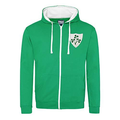 Print Me A Shirt pour Homme rétro Irlande Irish Crest Rugby à Capuche Zippé - - 102 cm/M