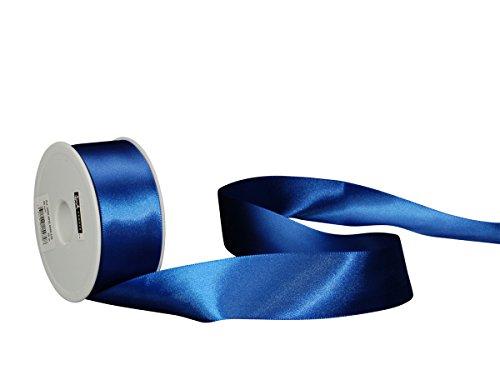 Spyk Bänder Klebeband doppelseitig für Geschenk 40 mm, 25 m Blue Savoia (Schleife 036)