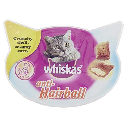 Whiskas Anti-Hairball Premios para Gatos Contra las Bolas de Pelos - Paquete de 8 x 60 gr - Total: 480 gr