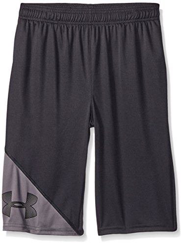 Under Armour Boys' Tech Shorts, Black /Black, Youth Small