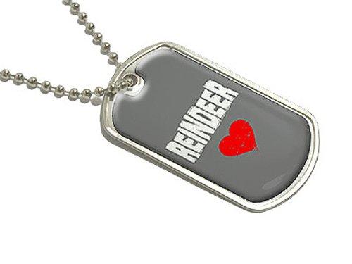 Rentier Love–Militärische Erkennungsmarke Gepäck Schlüsselanhänger