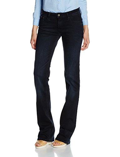 Hilfiger Denim Damen Jeanshose Mid Rise Boot Sandy Bbst, Blau (Blue Black Stretch 911), W27/L32 (Bootcut-stretch-jeans Mid-rise)